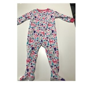 Carter's girls footed fleece pajamas size 24m